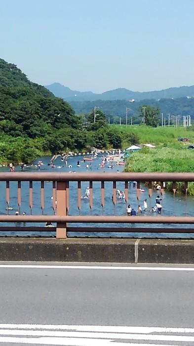 ■今日(8/15日)の河原の風景・【愛川町八菅橋から撮影 右側と左側】_b0033423_18492041.jpg