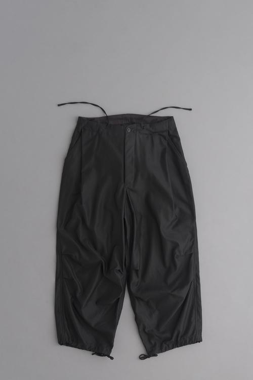HAVERSACK Back Satin Wide Easy Pants (Black)_d0120442_1461615.jpg