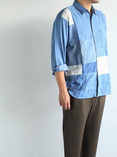 SLIDER STORE × WEST\'S(WESTOVERALLS) Used Remake Shirt_b0139281_17291116.jpg
