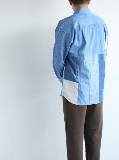 SLIDER STORE × WEST\'S(WESTOVERALLS) Used Remake Shirt_b0139281_17293379.jpg