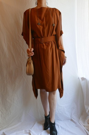 HERMES SILK chiffon Dress_f0144612_07535115.jpg