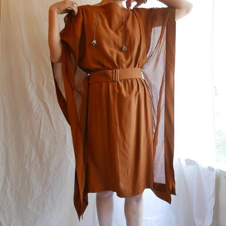 HERMES SILK chiffon Dress_f0144612_07535169.jpg