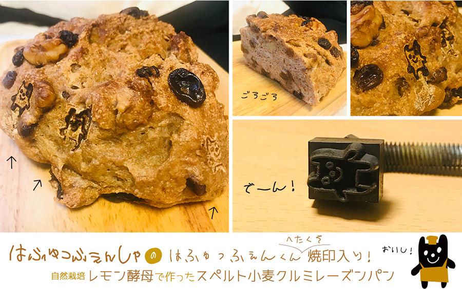 食卓のデザイン#55:「ハフュッフェン印」レモン天然酵母のスペルト小麦パン!_d0018646_21411026.jpg