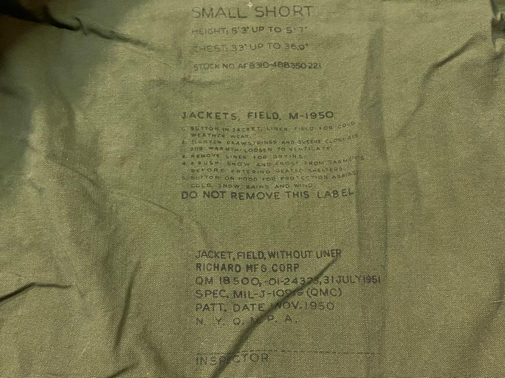 8月19日(水)マグネッツ大阪店秋物ヴィンテージ入荷日 #7 U.S.Military Part 2!! M-43,50,51 Field JKT!!_c0078587_21510032.jpg