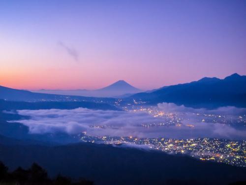 2020.8.15高ボッチ高原の夜明け前の風景(見晴らしの丘)_e0321032_10122046.jpg