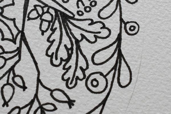 どんぐりを入れたデザイン画を描きました_e0333647_16062774.jpg