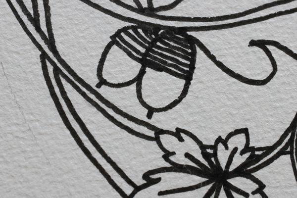 どんぐりを入れたデザイン画を描きました_e0333647_16063426.jpg
