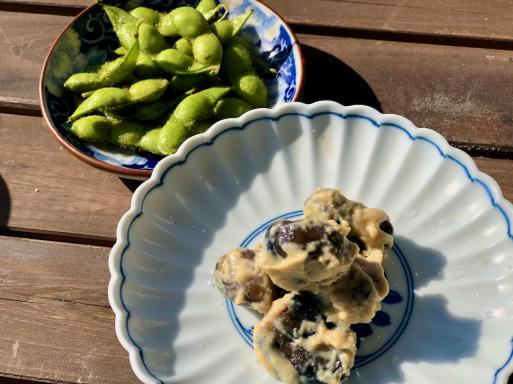 夏は枝豆とナスでしょう。_d0057843_16385117.jpeg