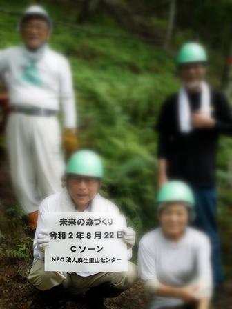 夕顔とわたし・・・くつきの森で薪ネット作業例会_d0005250_17584250.jpg