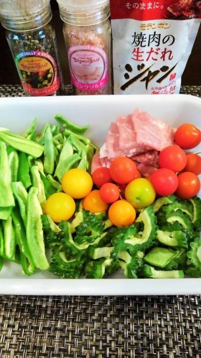 ■菜園発【簡単5分!!豚肉入り菜園野菜炒め】_b0033423_17400207.jpg