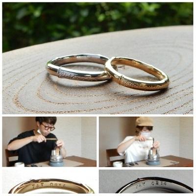 竹をモチーフにした結婚指輪 | 岡山_d0237570_12363886.jpg