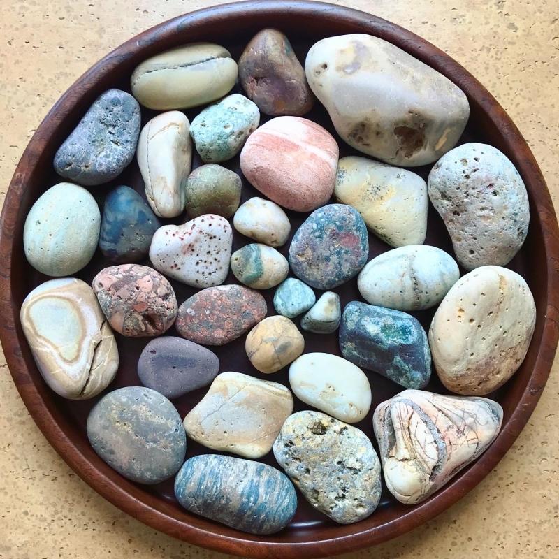 【海で拾った石】 真夏の石拾い その1_f0169147_11451876.jpg