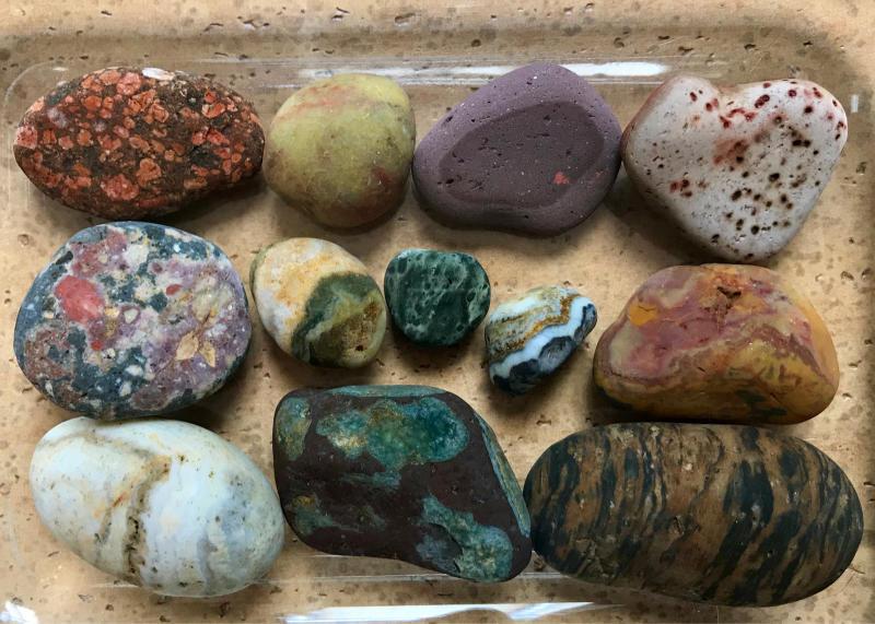 【海で拾った石】 真夏の石拾い その1_f0169147_16153349.jpg