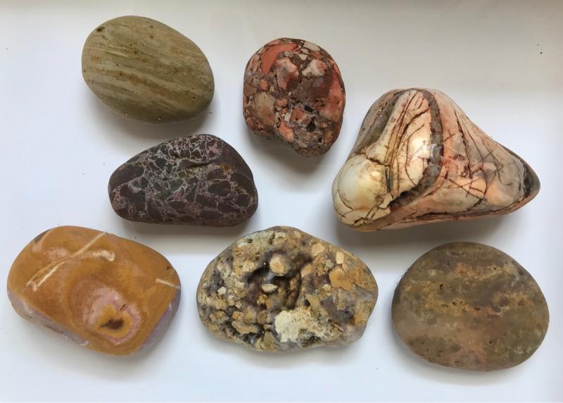 【海で拾った石】 真夏の石拾い その1_f0169147_16153489.jpg