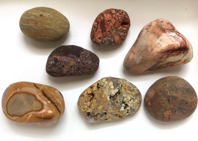 【海で拾った石】 真夏の石拾い その1_f0169147_16153646.jpg