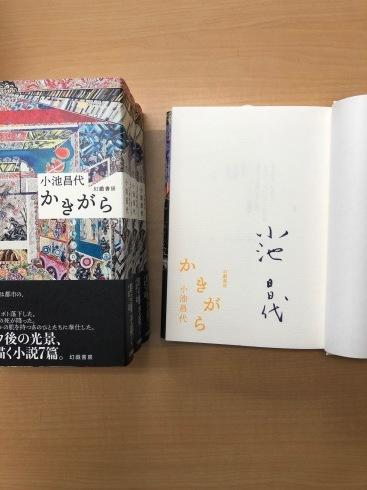 『かきがら』著者(小池昌代)サイン本、特別販売のご案内_d0045404_15324198.jpg