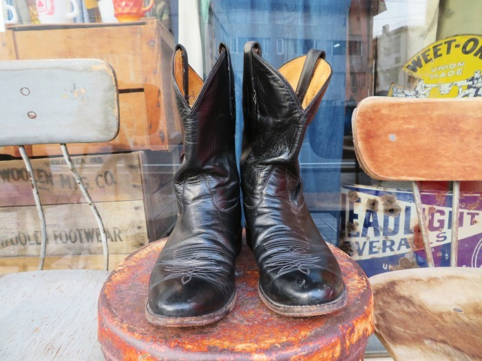 Used Tony Lama Western Boots Black_e0187362_12345628.jpg