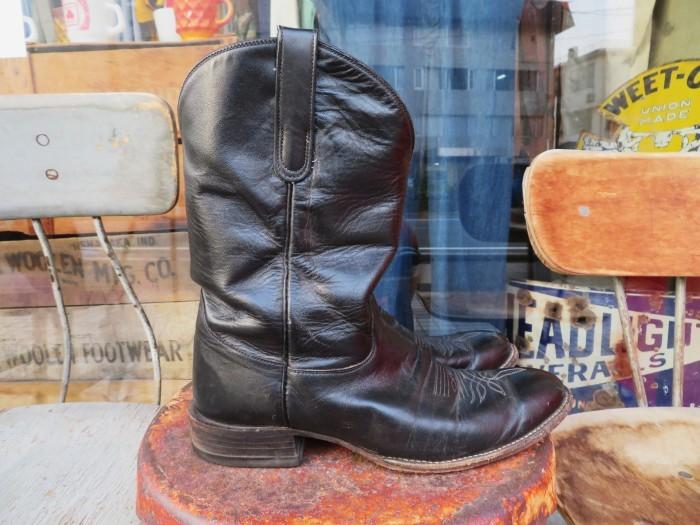 Used Tony Lama Western Boots Black_e0187362_12355579.jpg