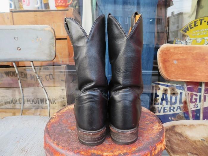 Used Tony Lama Western Boots Black_e0187362_12361663.jpg
