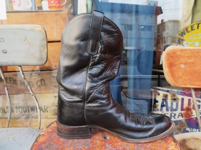 Used Tony Lama Western Boots Black_e0187362_12364892.jpg