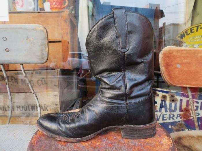 Used Tony Lama Western Boots Black_e0187362_12370973.jpg