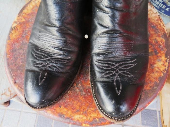 Used Tony Lama Western Boots Black_e0187362_12374419.jpg