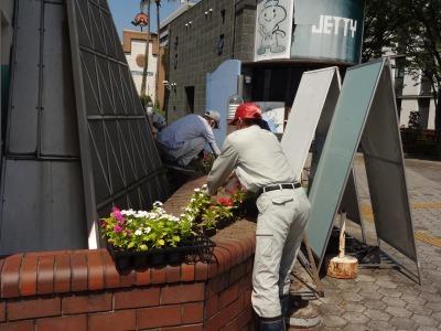 ガーデンふ頭総合案内所前花壇の植替えR2.8.24_d0338682_09111028.jpg
