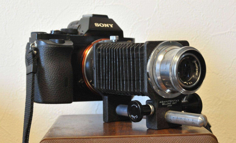 藤本写真工業 E-Lucky Anastigmat 75mm F3.5 を ベローズで_b0069128_20162437.jpg