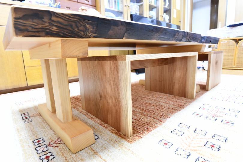 焼杉の座卓をリメイク_c0359306_23143709.jpg