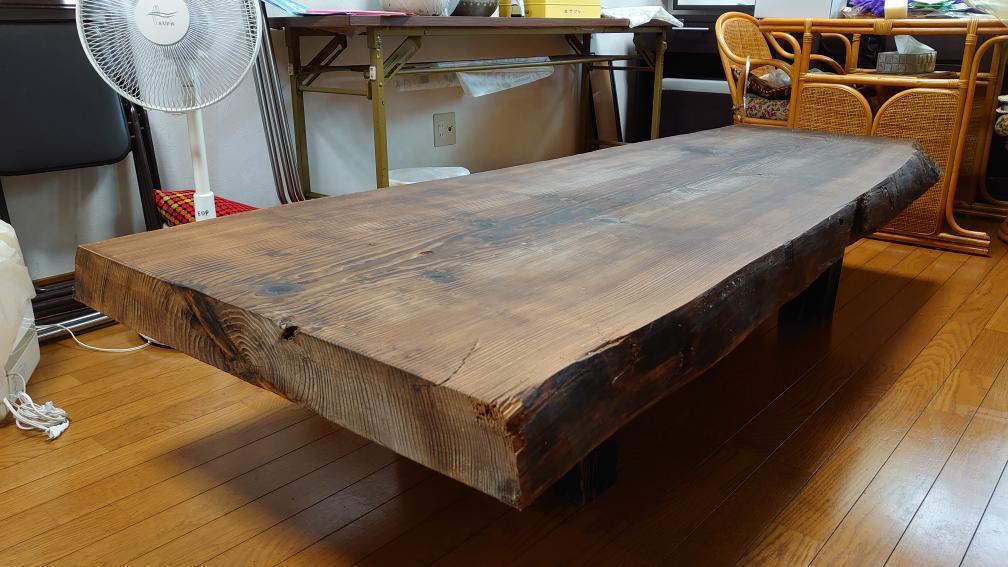 焼杉の座卓をリメイク_c0359306_23151244.jpg