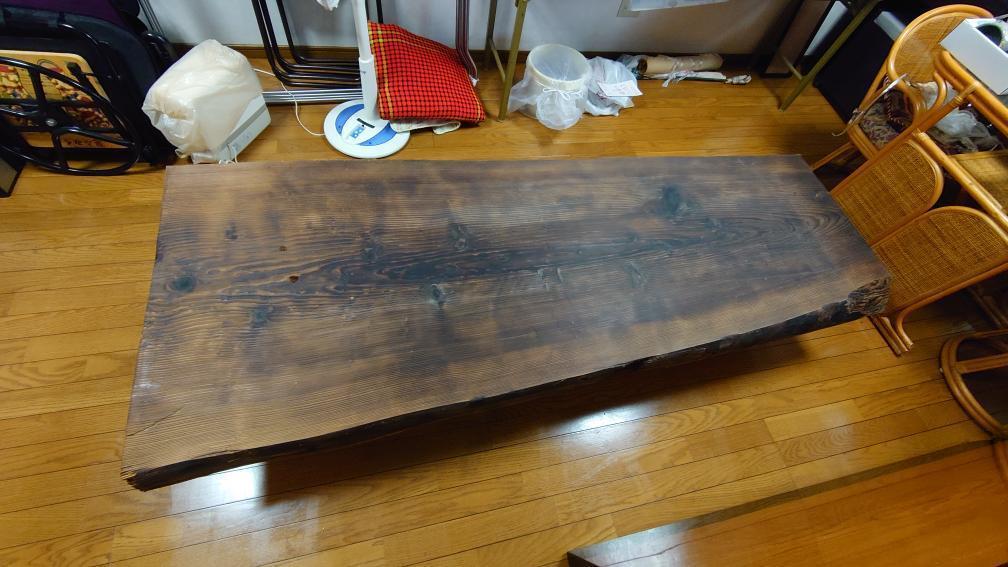 焼杉の座卓をリメイク_c0359306_23153416.jpg