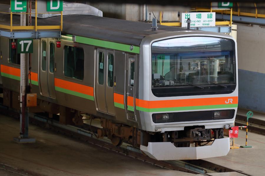 E231系3000番代 ハエ41編成がワンマン化改造される_b0353411_23012510.jpg