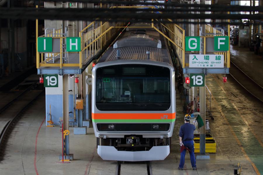 E231系3000番代 ハエ41編成がワンマン化改造される_b0353411_23170824.jpg