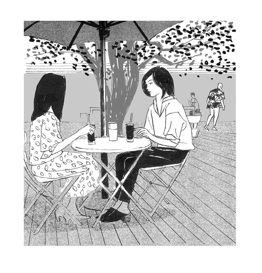 挿絵の仕事 小説推理「今日の花を摘む」第二回 _a0052641_15143634.jpg