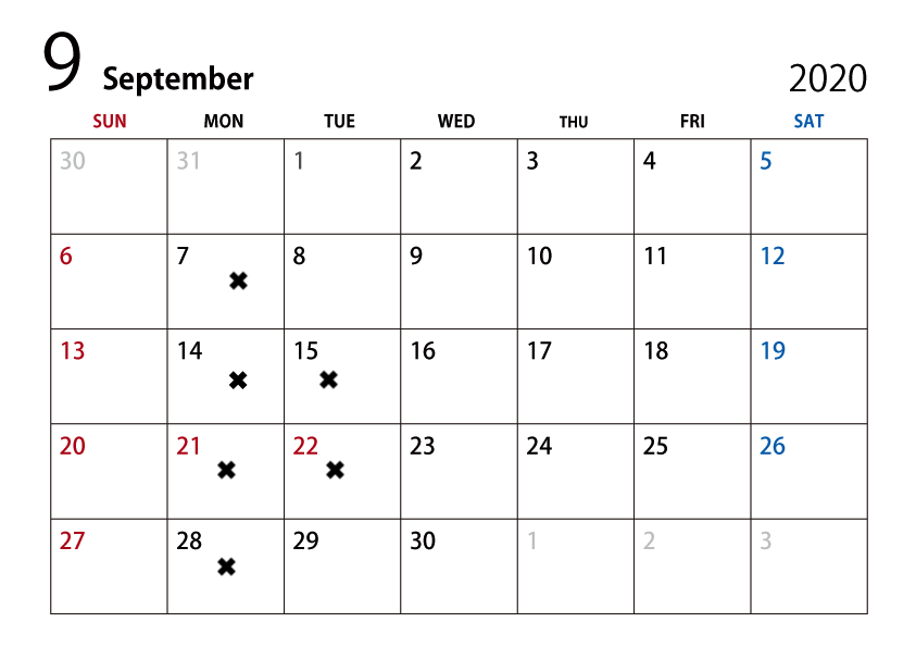 BARBERBAR 9月のスケジュール_e0143447_11592523.png