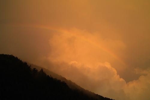 アポロ対サル・・・夕焼け空の虹_d0005250_1935174.jpg