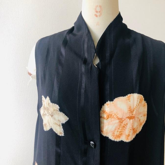 着物リメイク・羽織からロングジレ_d0127925_10202675.jpg