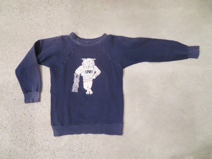 ~70\'s Kid\'s Flocky Print Sweat フロッキー ナス紺_e0187362_17303734.jpg