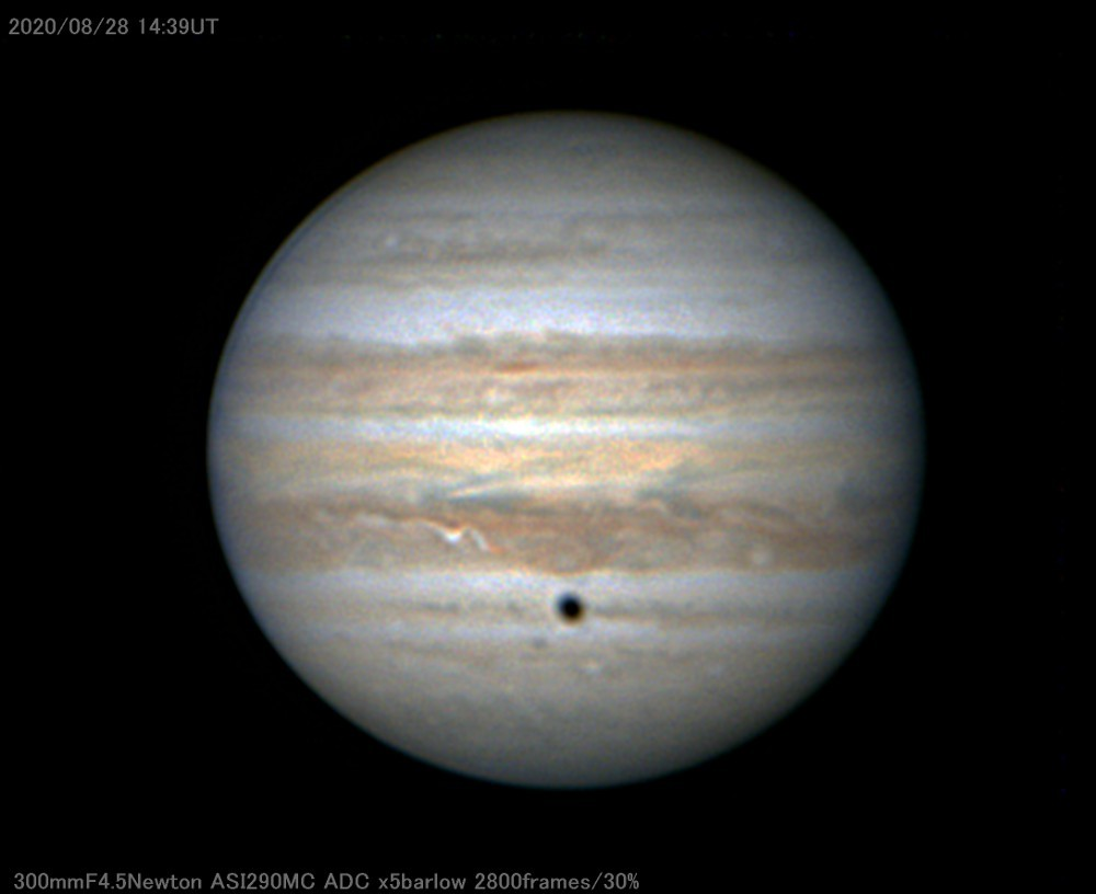 Hubble Optics の30cm主鏡を鏡筒に組んで木星を撮ってみる_a0095470_18152125.jpg