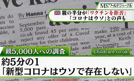 衝撃!英国新聞『コロナはウソで存在しない』と5分の1が回答!日本も気づこう! #796_b0225081_15123744.jpg