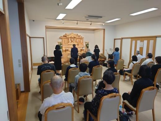 樹木葬 マイメモリーいずみ お盆供養会 _a0274383_18193805.jpg