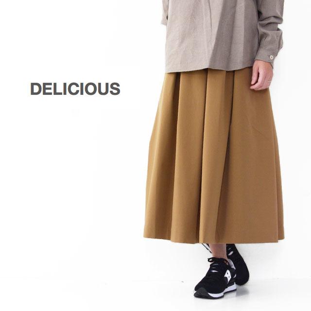 DELICIOUS [デリシャス] Tucked Skirt [DSK0563] タックスカート・ミディアム丈・ LADY'S (STUDIOORIBE/スタジオオリベ) _f0051306_15230502.jpg