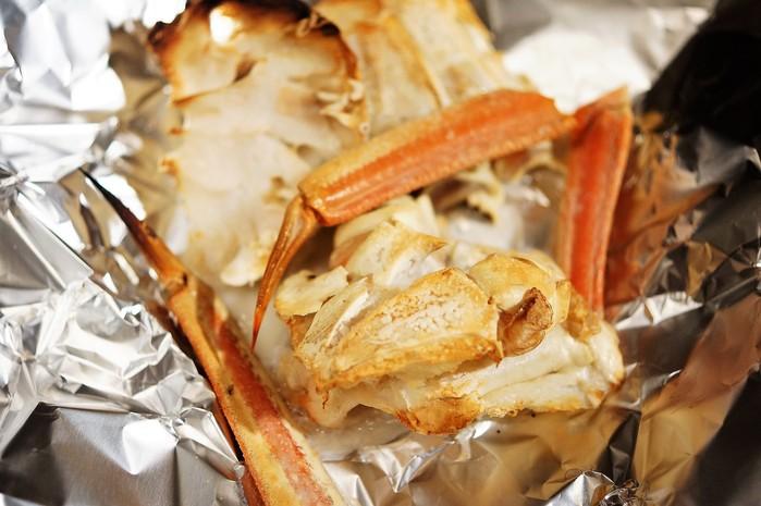 ■昼パスタ【蟹トマトクリームパスタ】市販のソースに焼き蟹乗せました♪_b0033423_1733263.jpg