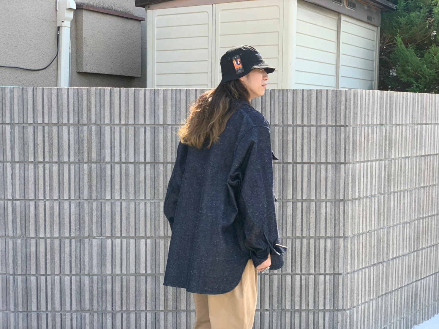 "\""JieDa\""<<SILK DENIM OVER SHIRT>>Style~KODAI~_c0167336_21483915.jpg"