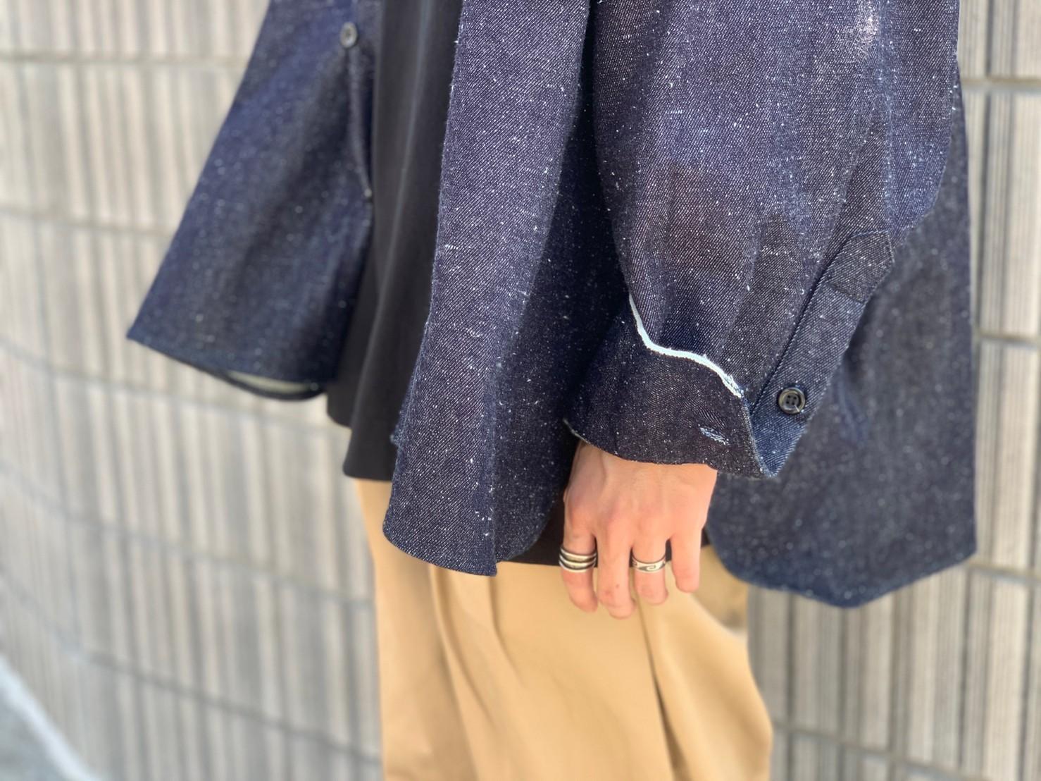 "\""JieDa\""<<SILK DENIM OVER SHIRT>>Style~KODAI~_c0167336_21491874.jpg"