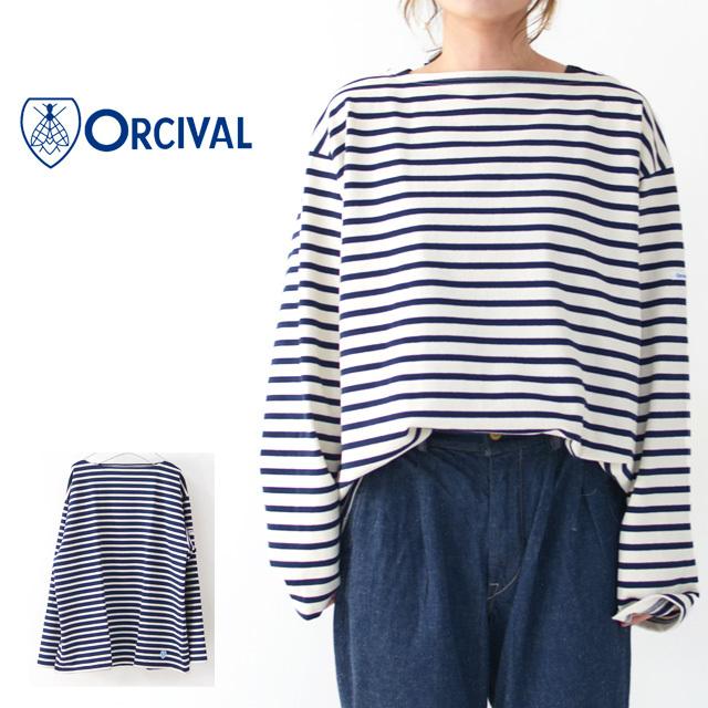 ORCIVAL [オーチバル・オーシバル] VASQUE STRIPE BIGGER TEE [B211C] バスクシャツ・ビッグT・ボーダーカットソー・LADY\'S _f0051306_17382095.jpg