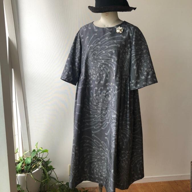 着物リメイク・大島紬からワンピース_d0127925_15313654.jpg