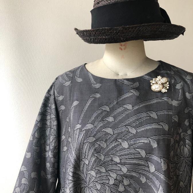 着物リメイク・大島紬からワンピース_d0127925_15314480.jpg