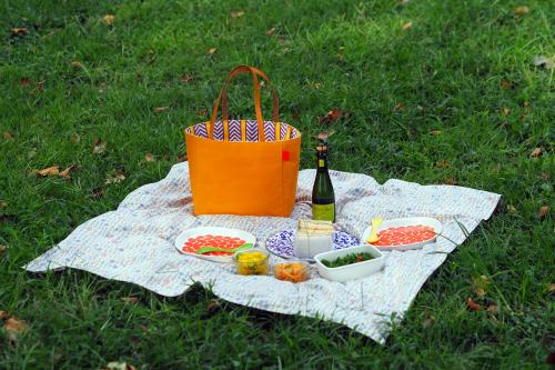 キャンバス生地の「picnic tote」_e0243765_13390397.jpg