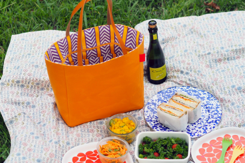 キャンバス生地の「picnic tote」_e0243765_13412196.jpg